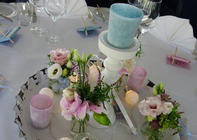 Details der Hochzeits-Tischdekoration