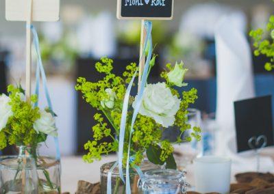 Tischdeko Hochzeit von M&R