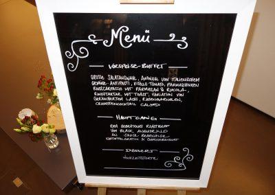 Menü für die geladenen Gäste - im Südhang Eschenbach
