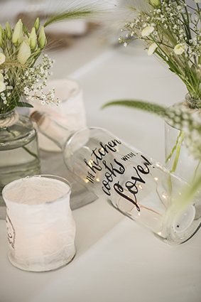 Flaschenpost passend zum Thema Anker der Hochzeitsdeko