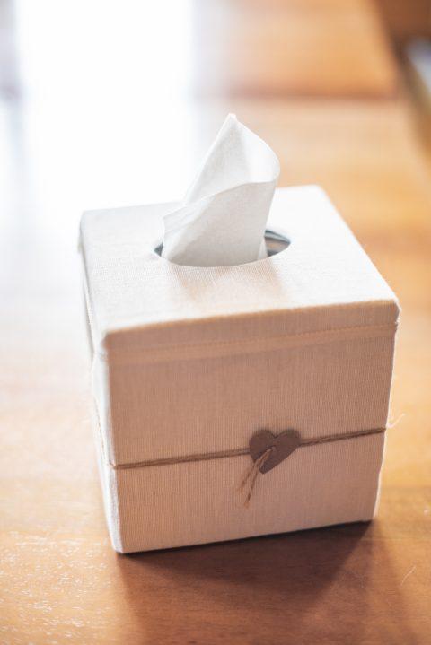 Eine Taschentücherbox für die Freudentränen