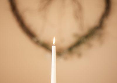 Kerzenlicht sorgt für Romantik