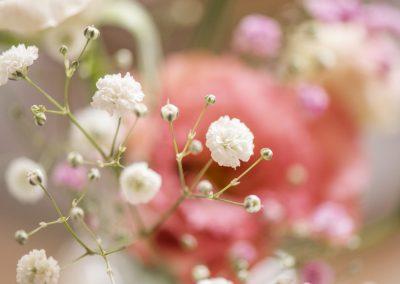 Schleierkraut in der zarten Blumendekoration