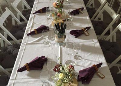 Tischdeko im Rustic-Stil