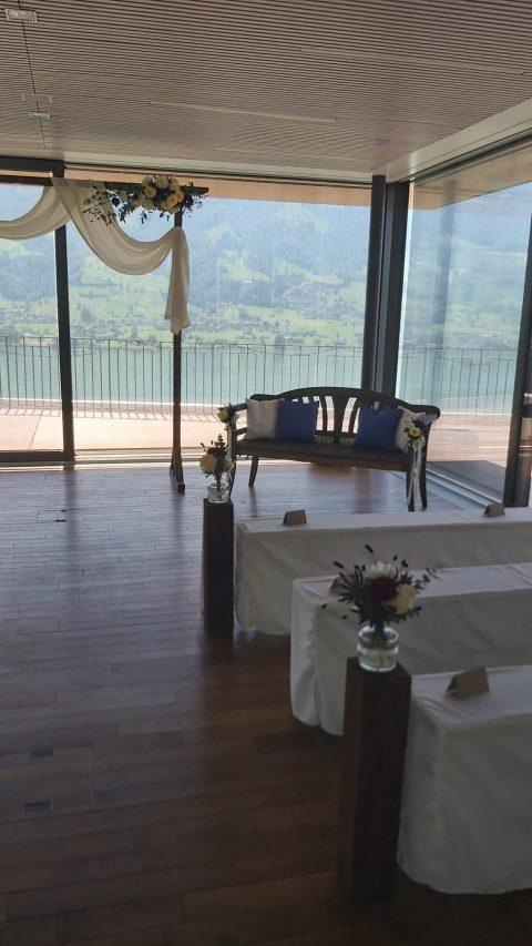 Eine Trauung mit Aussicht - im Hotel Wilerbad in Wilen am Sarnersee