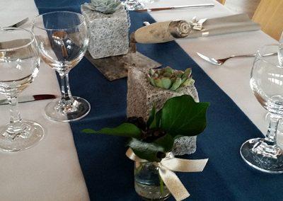 Tischdeko für den 70. Geburtstag eines Bauunternehmers mit 240 Gästen