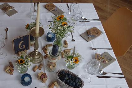 """Tischdekoration im Stil """"Winzerfest"""""""